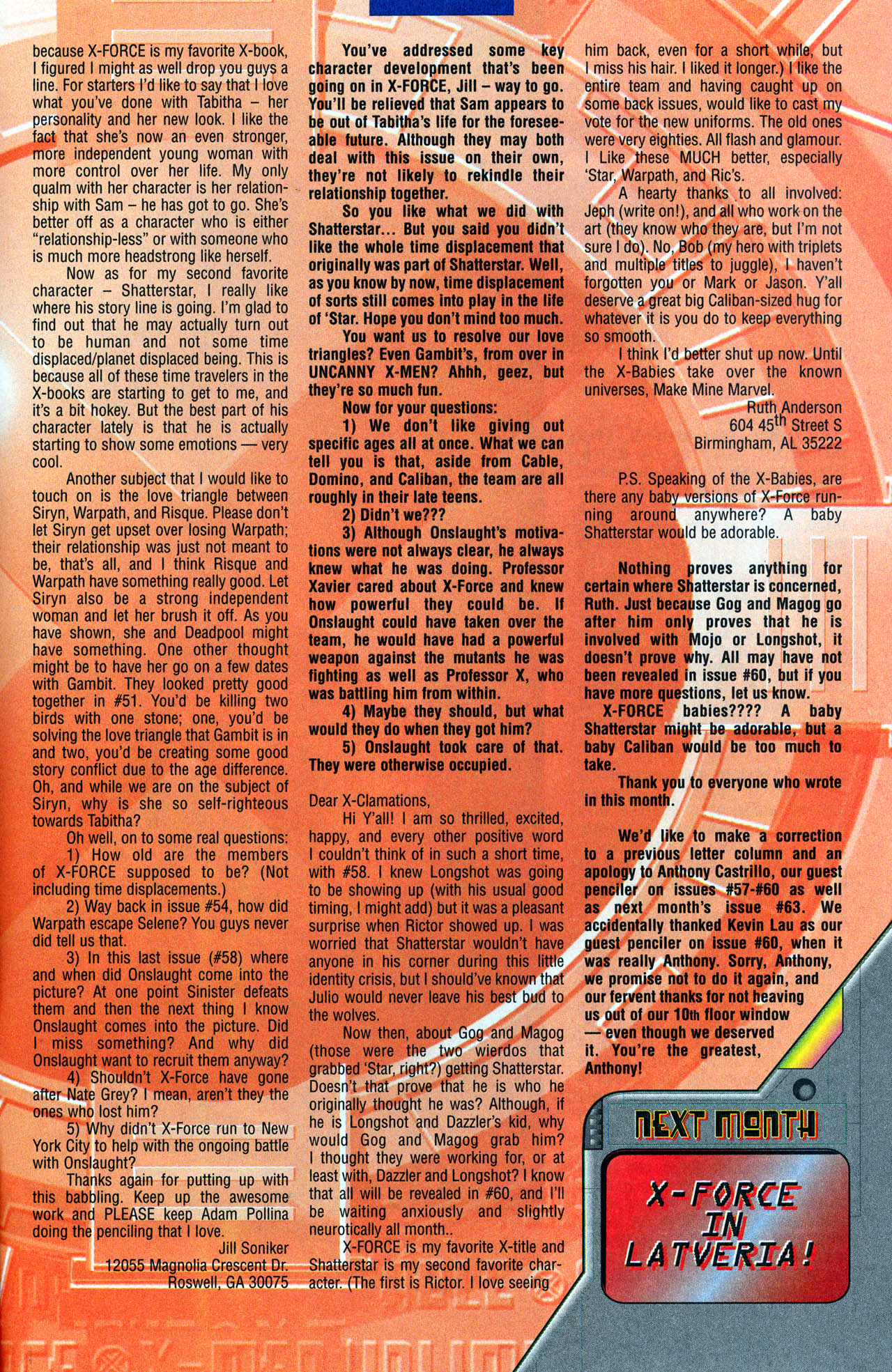 Read online X-Force (1991) comic -  Issue #62 - 34