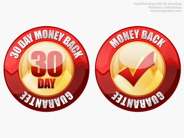 Money Back Guarantee Seal PSD