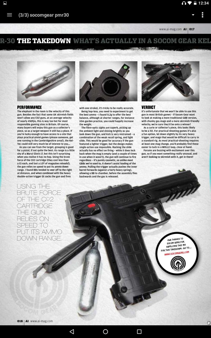 canada airgun freak: Socom Gear Kel-tec PMR-30 airsoft replica