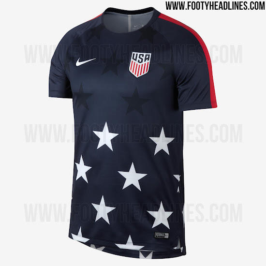992c9422a Stunning USA 2017 Gold Cup Pre-Match Shirt Leaked - Footy Headlines