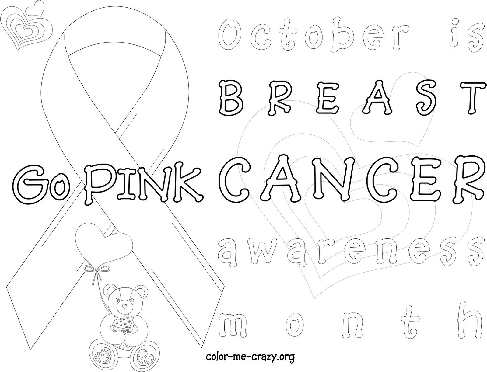 free breast cancer coloring pages | ColorMeCrazy.org: October 2011