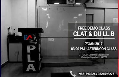 Free Demo Class for CLAT & DU LL.B.