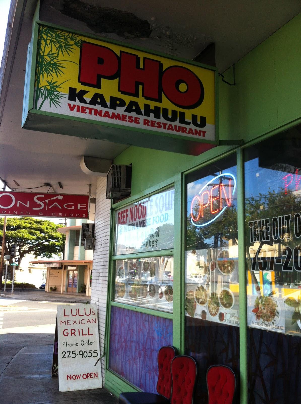 TASTE OF HAWAII: PHO KAPAHULU VIETNAMESE RESTAURANT