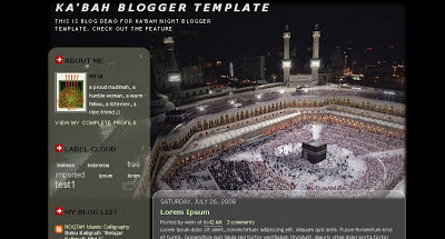 Ka'bah Blogger Template