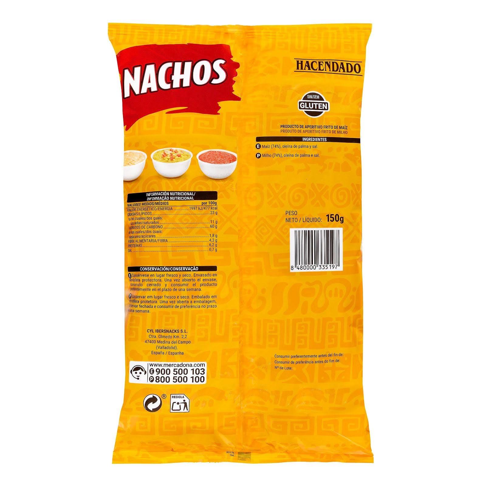 Nachos de maíz Hacendado