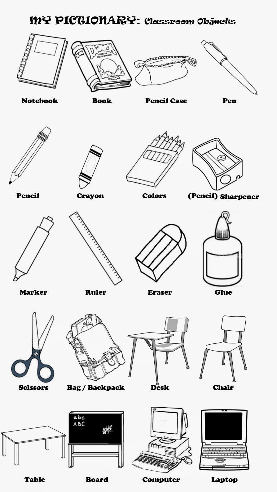 English Teacher? o Prof de Français?: Classroom Objects