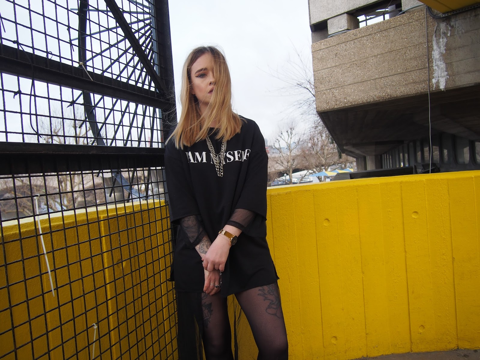 Fashion blogger Lucy Love styles up Zara oversized sweater dress