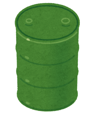 ドラム缶のイラスト