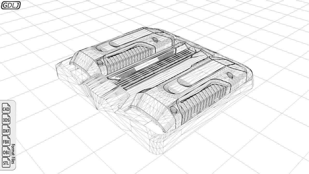 Bugatti Chiron engine Ready to 3D Print