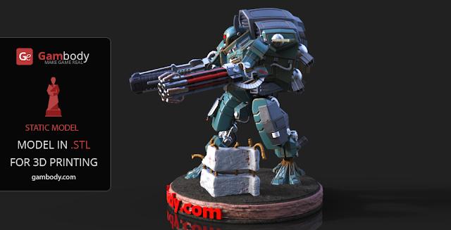 Warhammer40k TAU XV109 Y'Vahra 3D Print