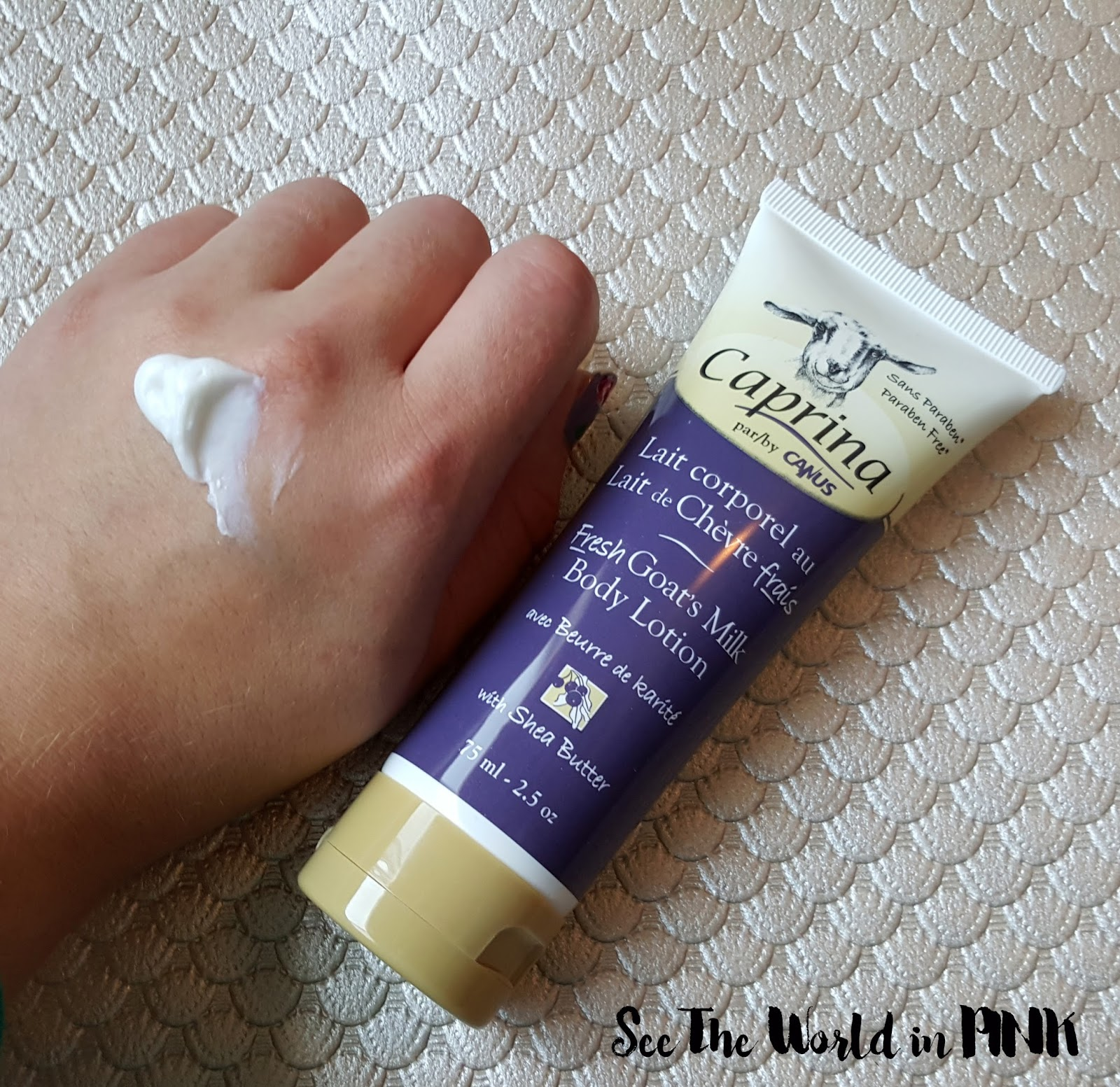 Canus Caprina Skincare Product Reviews body lotion shea butter