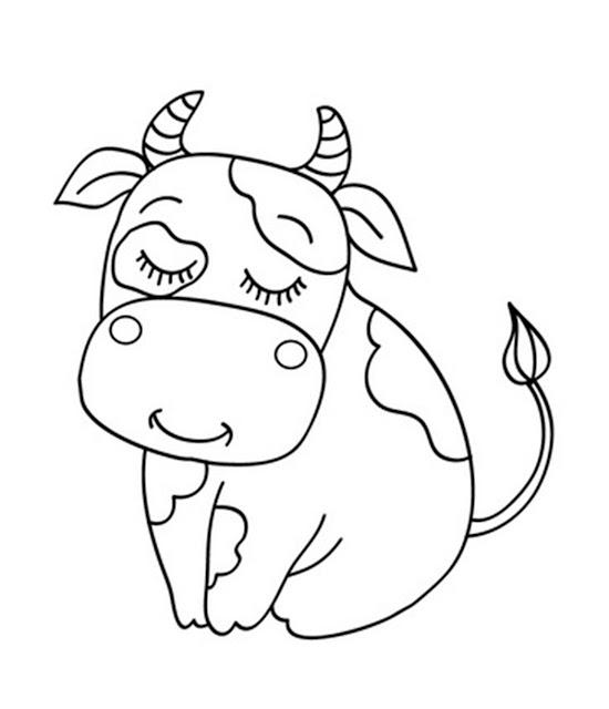 tranh tô màu động vật cho bé tập tô màu 12