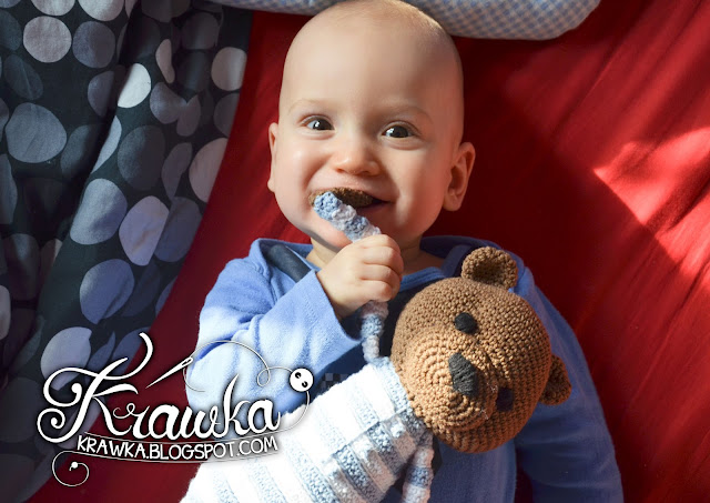Krawka: Brown classic Teddy Bear crochet pattern by Krawka