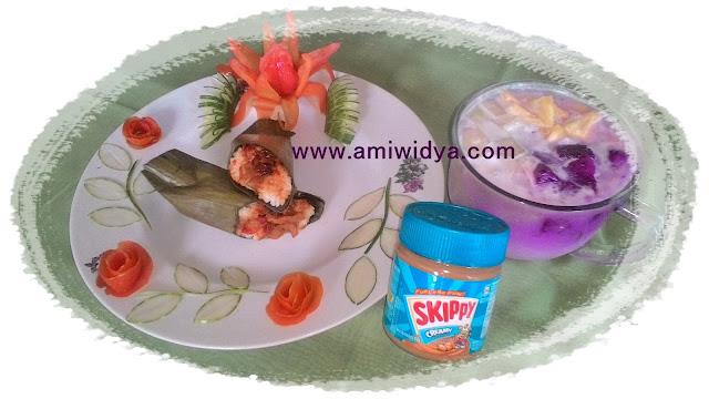 nasi gulung menjamur sup buah skippy