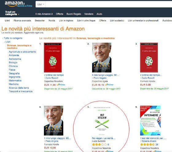 Il libro No Vegan è tra le novità più interessanti di Amazon