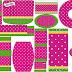 Fucsia y Verde: Etiquetas para Candy Bar para Imprimir Gratis.