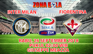 Prediksi Bola Inter Milan vs Fiorentina 26 September 2018