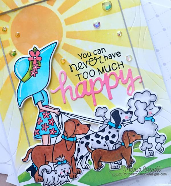 Dog Walker Card by Maria Russell | Walking Woof Stamp Set by Newton's Nook Designs #newtonsnook #handmade