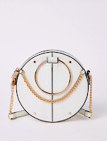 River Island white circle handbag