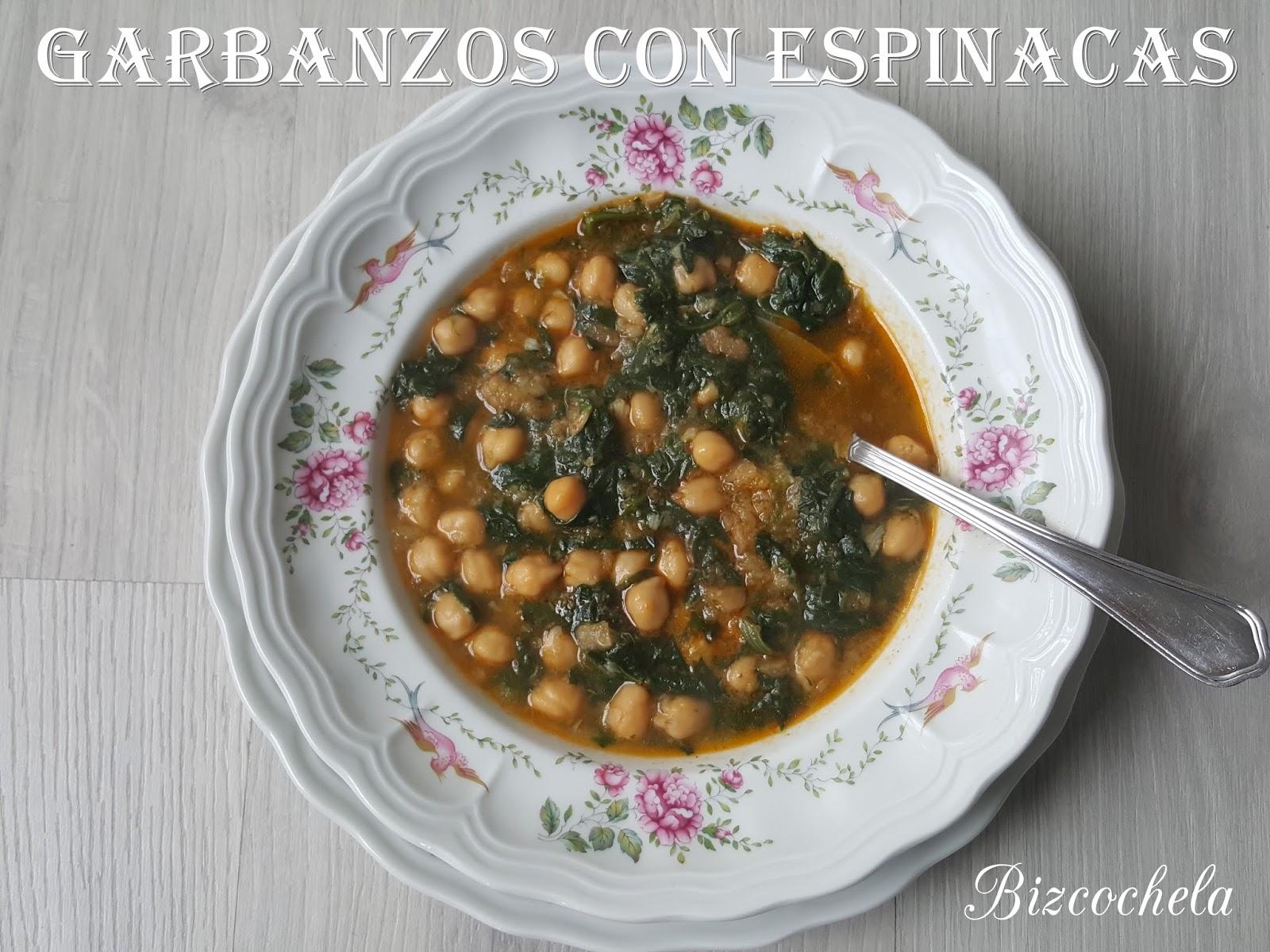 Garbanzos con espinacas for Cocinar espinacas