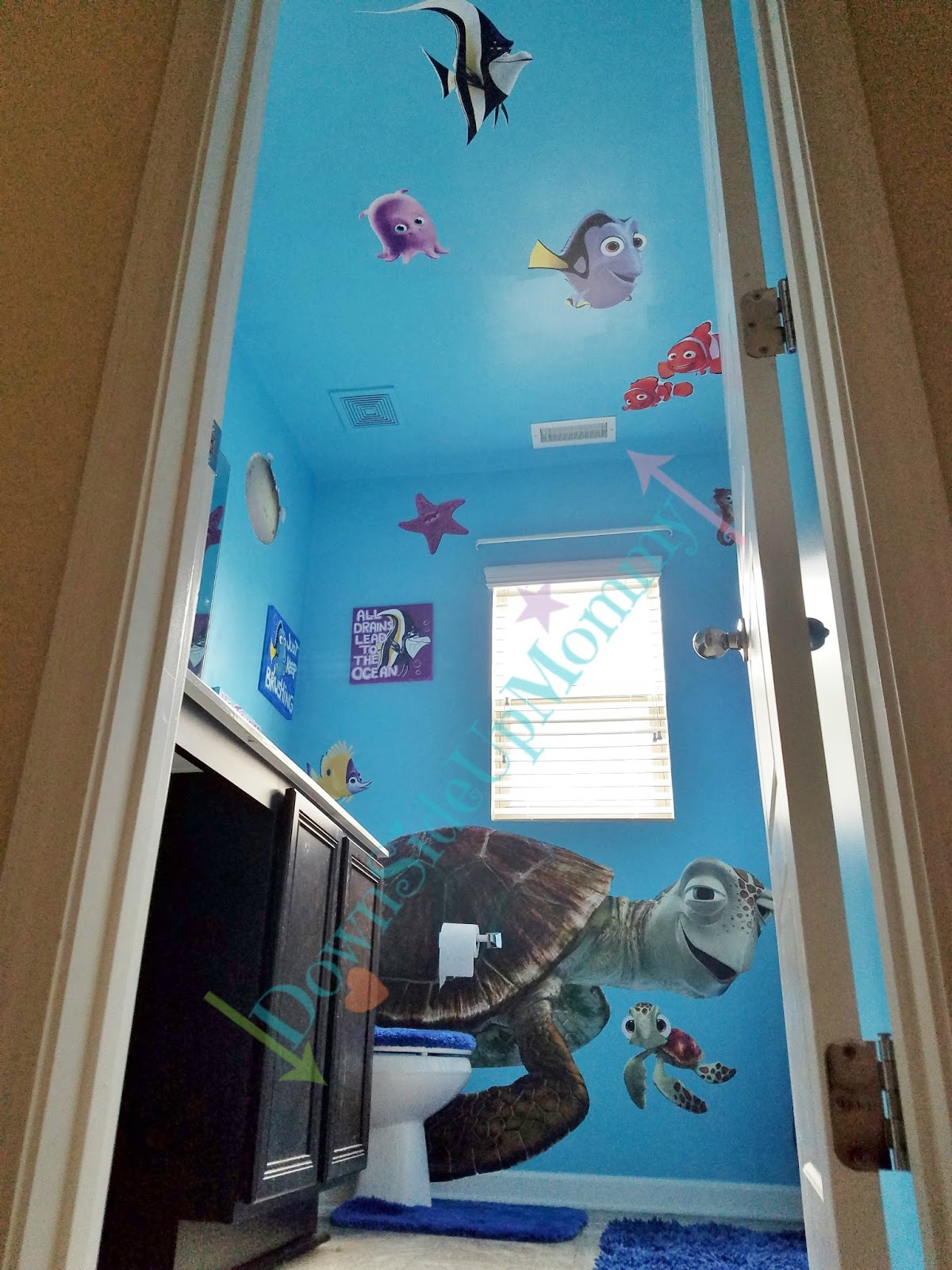 down side up mommy finding nemo bathroom makeover
