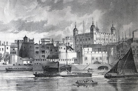 The Tower of London from Old and New London by W Thornbury (1873)