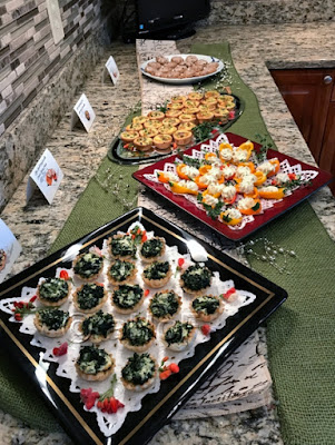 Appetizers set up at 2605 Pheasant Run Blvd