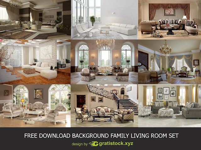 Free Download PACK - Background Living Room Interior Set.