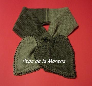 Bufandas tejidas a dos agujas , Cuellos de lana para