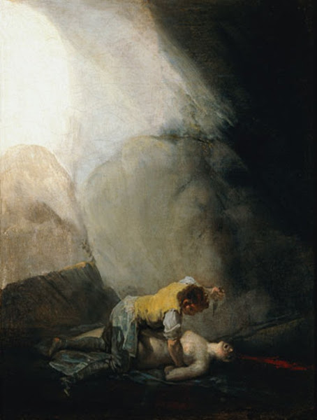 Bandit Killing a Woman, Francisco de Goya, Macabre Art, Macabre Paintings, Horror Paintings, Freak Art, Freak Paintings, Horror Picture, Terror Pictures