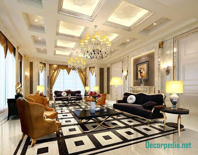 pop design, pop false ceiling design ideas for living room and hall 2019, coffered ceiling design