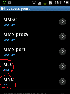 Bsnl GPRS/internet/3G Settings For Android (Samsung,Sony,Micromax