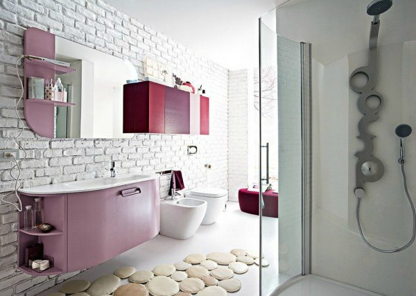 15 ideas originales para decorar paredes de baños - Decoracion en ...
