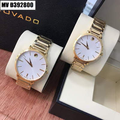 Đồng hồ đeo tay cặp đôi dây inox Movado MV Đ392800