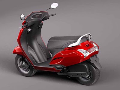 Honda Activa 3G rear red wallpaper //HD