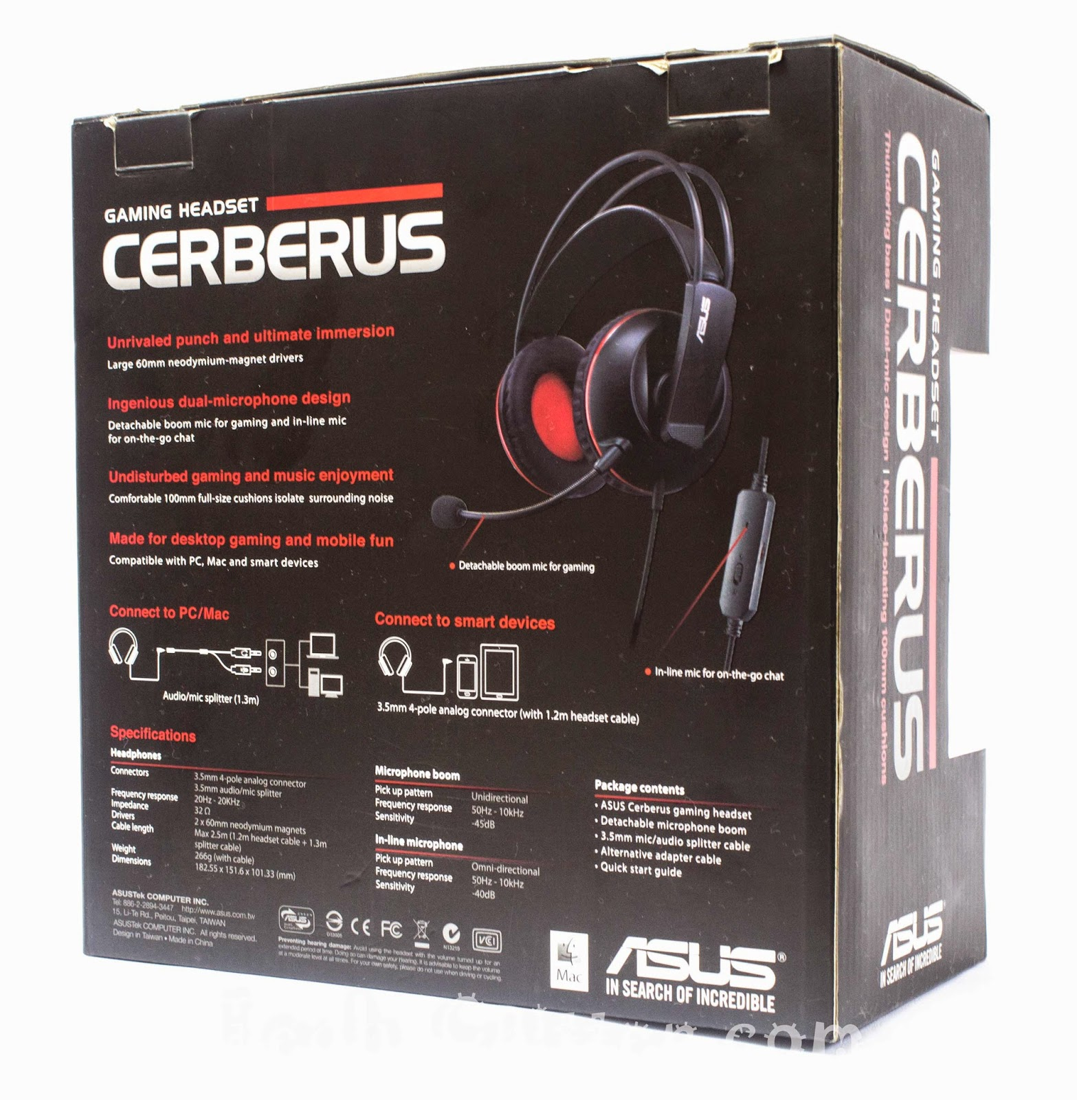 Unboxing & Review: ASUS Cerberus Gaming Headset 4