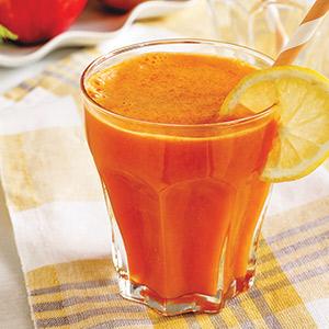 Energy Blast Juice Recipe, carrot apple ginger peach recipe