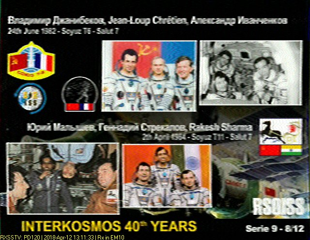 WhiskeyTangoHotel Com: SSTV and the ISS: Space Based Fax Machine