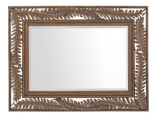 tommy bahama decorative mirror palm leaf motif