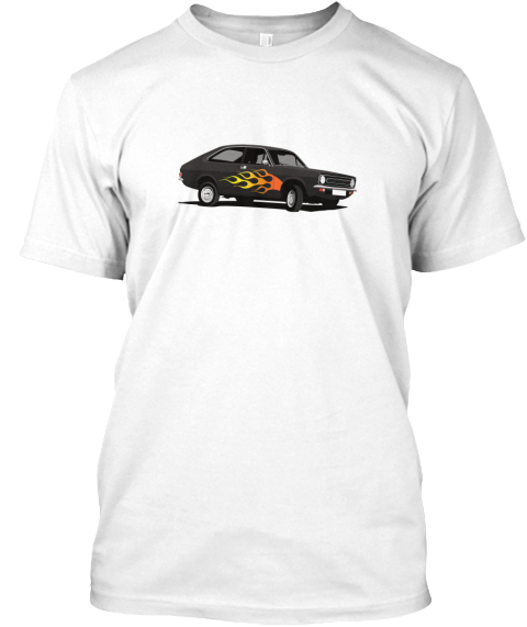 Black Morris Marina Coupé ADO28 tuning fan T-shirt