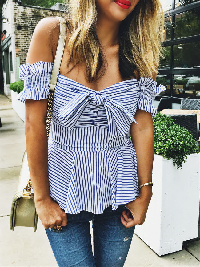 Striped Peplum Top, Style Steal Top, How to Style Tops Summer to Fall