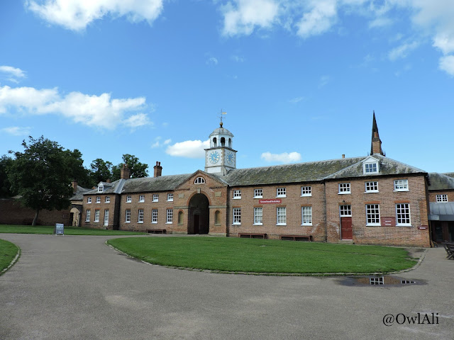 The old stables at Clumber Park- now home to the excellent tea room