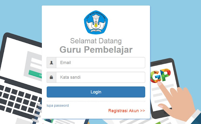 data dapodik guru - halaman login