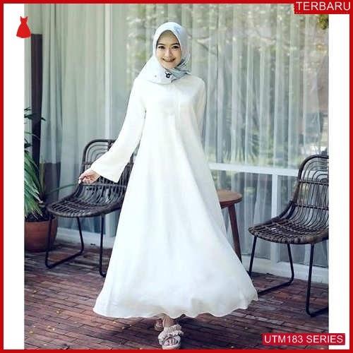 UTM183W77 Baju White Muslim Dress UTM183W77 0B7   Terbaru BMGShop