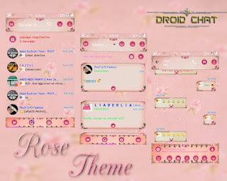 BBM Mod Style Cewek Girly Theme 2.13.1.14 Background Pink