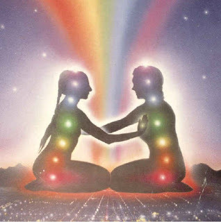 Place the hand on partners heart chakra during meditation.