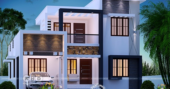 Step Roof Home In 1800 Square Feet, Kerala House Plans Below 1800 Sq Ft