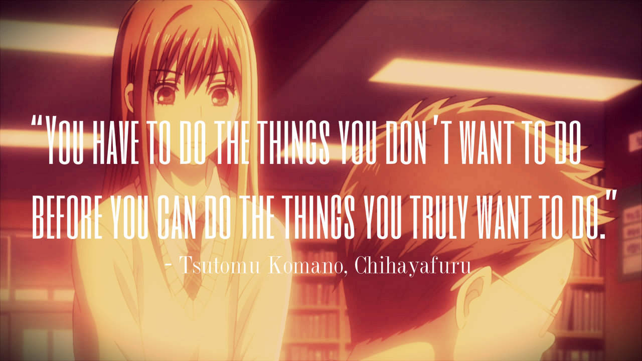 Anime Quotes: Anime Quote: Chihayafuru