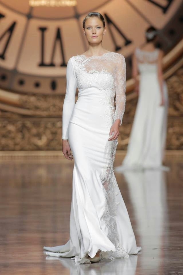 2e12244074 Atelier Pronovias 2016 bridal collection fashion presentation for Barcelona  Bridal Week 2015