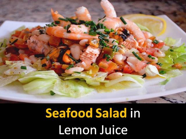 Seafood Salad in Lemon Juice